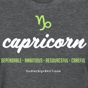 Capricorn Script Zodiac - Women's White, Green and - Women's T-Shirt