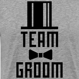 Team Groom Bachelor Party JGA Cylinder Hut T-Shirt - Men's Premium T-Shirt