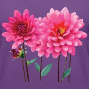 Row of Pink Dahlias Tanks - Women's Premium Tank Top