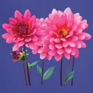 Row of Pink Dahlias Aprons - Adjustable Apron