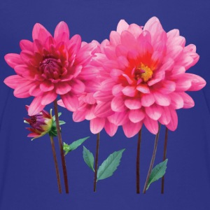 Row of Pink Dahlias Kids' Shirts - Kids' Premium T-Shirt
