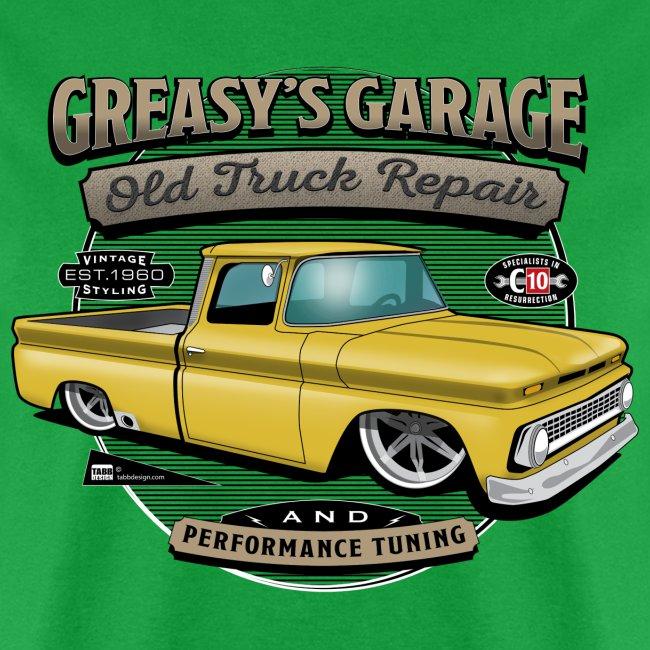 Greasy's Garage PREMIUM ART Tee YELLOW