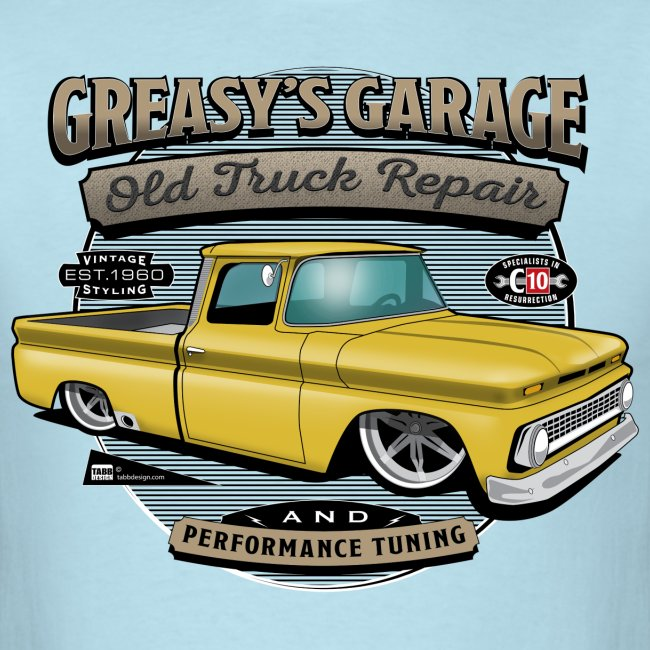 Greasy's Garage PREMIUM ART Tee YELLOW