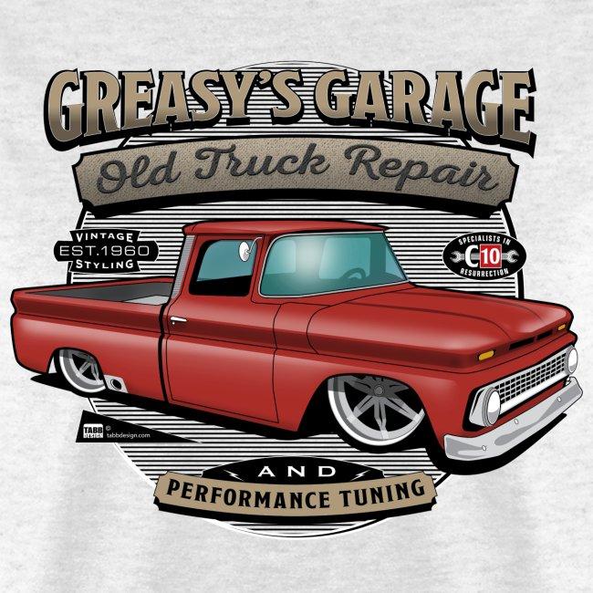 Greasy's Garage PREMIUM ART Tee RED