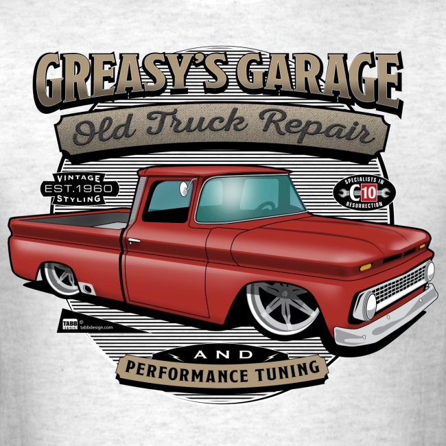 Greasy's Garage PREMIUM ART Tee RED
