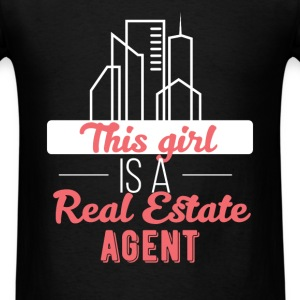 Real estate agent - This girl is a real estate age - Men's T-Shirt