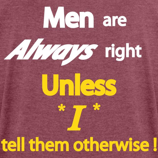 Women's 50/50 T- Men right- Back