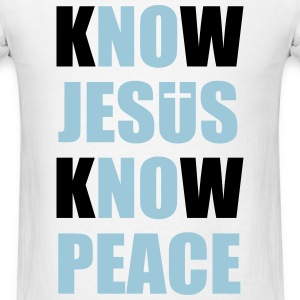Know Jesus Know Peace T-Shirts - Men's T-Shirt