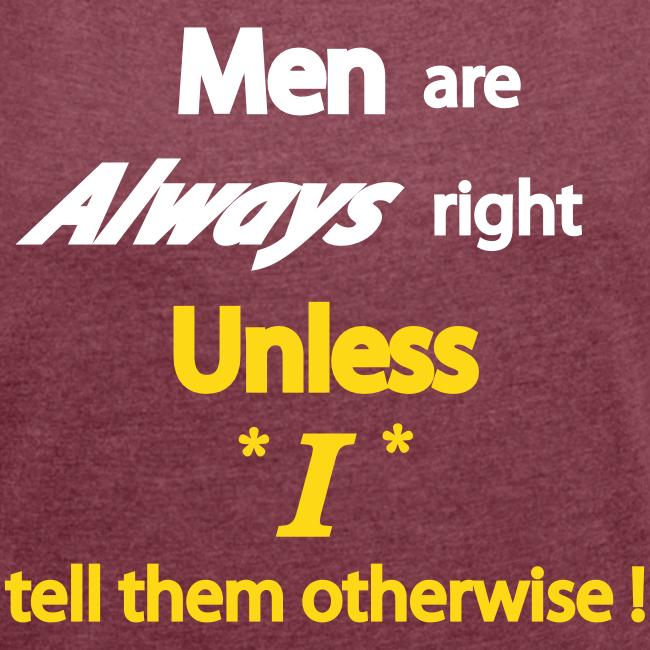 Women's 50/50 T- Men right- Front
