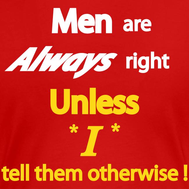 Women's Premium T- Men right- Back