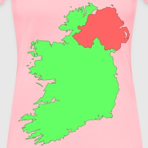 Ireland contour map - Women's Premium T-Shirt