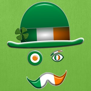 Irish Flag Face. - Tote Bag