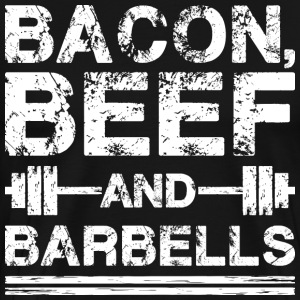 Bacon, Beef, And Barbells T-Shirts - Men's Premium T-Shirt