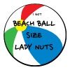 Men's Basic Beach Ball Size Lady Nuts tee - Men's Premium T-Shirt