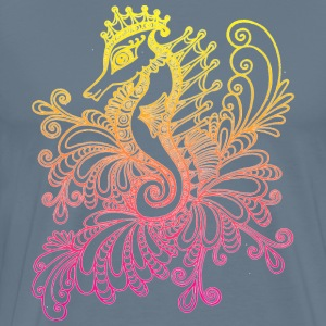 Sunset sea horse art - Men's Premium T-Shirt