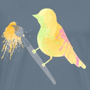Splash of color bird - Men's Premium T-Shirt