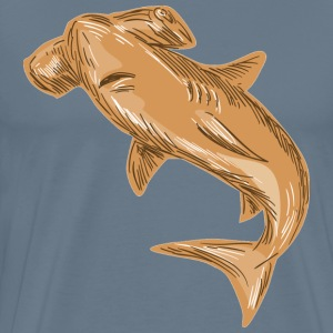 Hammerhead shark draw - Men's Premium T-Shirt