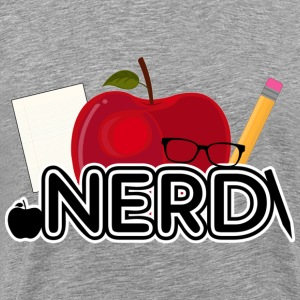 Nerd apple logo - Men's Premium T-Shirt