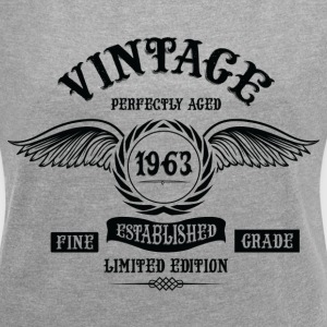 Vintage Perfectly Aged 1963 T-Shirts - Women´s Roll Cuff T-Shirt