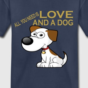 LOVE AND A DOG - Kids' Premium T-Shirt