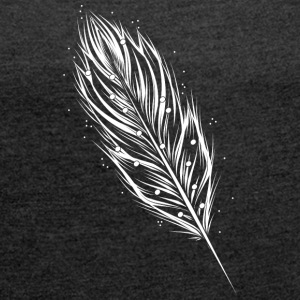 White feather T-Shirts - Women´s Roll Cuff T-Shirt