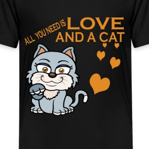 LOVE AND A CAT - Kids' Premium T-Shirt