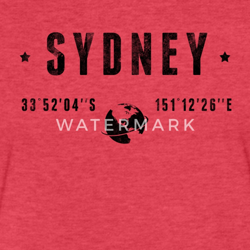 Sydney T-Shirts - Fitted Cotton/Poly T-Shirt by Next Level