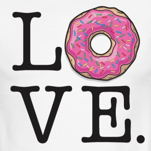 Donut Love Funny Food Humor - Men's Ringer T-Shirt