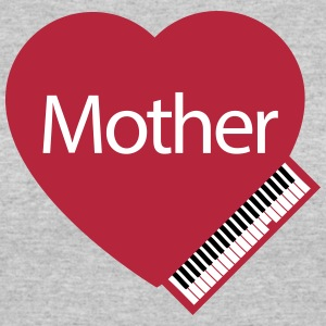 Mother's Day Music Heart - Women's 50/50 T-Shirt