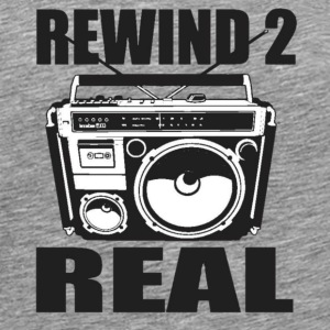 Rewind 2 Real Stereo T-Shirts - Men's Premium T-Shirt