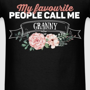 Granny - My favourite people call me granny - Men's T-Shirt