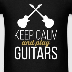 Guitars - Keep calm and play guitars - Men's T-Shirt