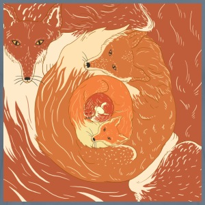 Foxes painting design - Men's Premium T-Shirt