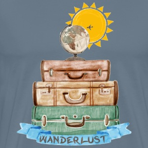 Wanderlust painting a - Men's Premium T-Shirt