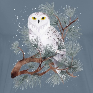Snowy painting art - Men's Premium T-Shirt