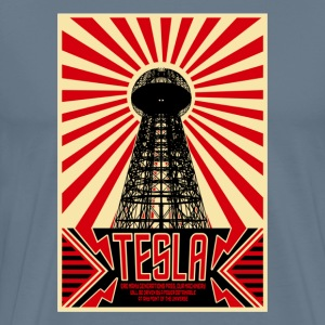 Tesla painting art - Men's Premium T-Shirt