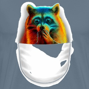 Raccoon pocket painti - Men's Premium T-Shirt