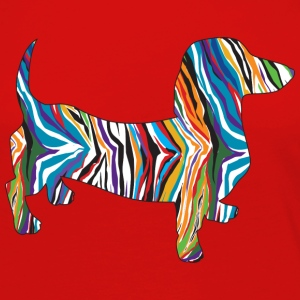 Psychedelic Dachshund - Women's Premium Long Sleeve T-Shirt
