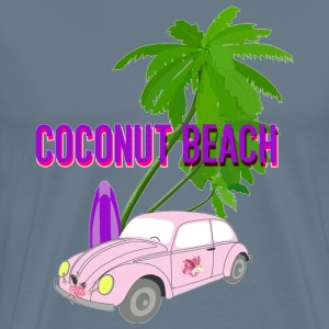 Coconut beach paintin - Men's Premium T-Shirt