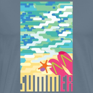 Summer beach painting - Men's Premium T-Shirt