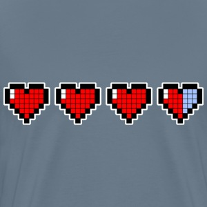 Pixel hearts painting - Men's Premium T-Shirt