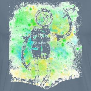 Mad bot painting art - Men's Premium T-Shirt