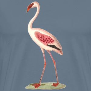 Pink flamingo paintin - Men's Premium T-Shirt