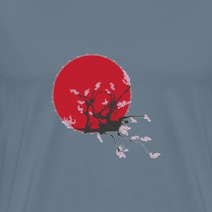 Rising sun painting a - Men's Premium T-Shirt