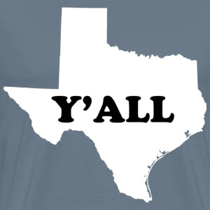 Texas y'all map desig - Men's Premium T-Shirt