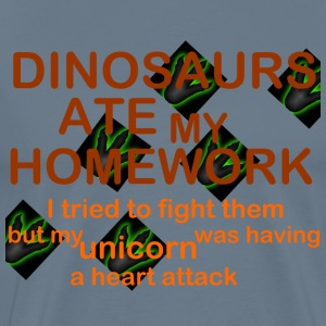 dinosaurs ate my homework - Men's Premium T-Shirt
