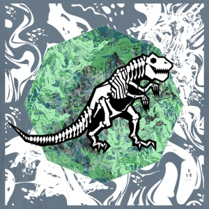 T. rex fossil paintin - Men's Premium T-Shirt