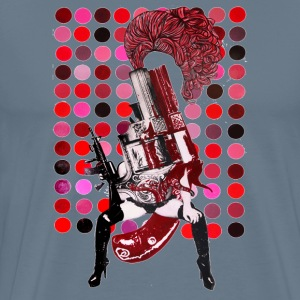 Female gun painting - Men's Premium T-Shirt