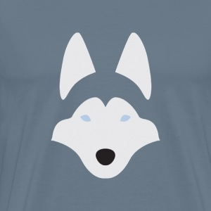 Husky negative space - Men's Premium T-Shirt
