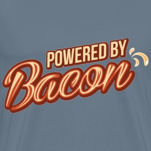 Powered by bacon - Men's Premium T-Shirt